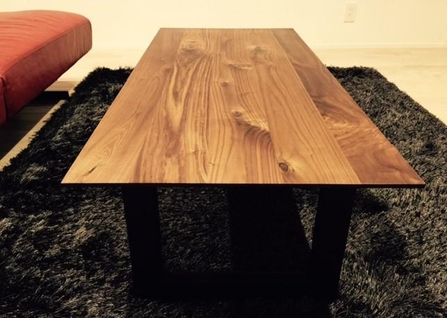 オリジナルセンターテーブル ウォールナット アイアン 鉄脚
